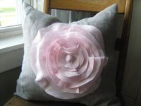 French Rose Linen Pillow