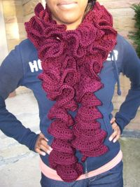 Cranberry Spiral Scarf
