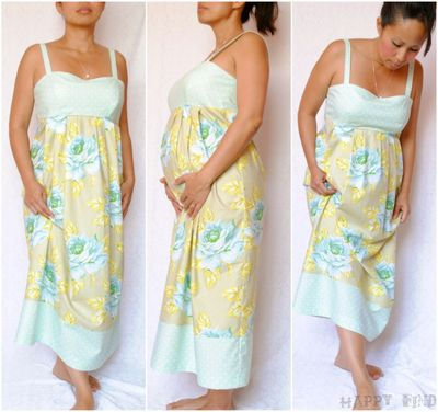Maternity dress collage