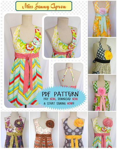 Miss jenny pattern collage