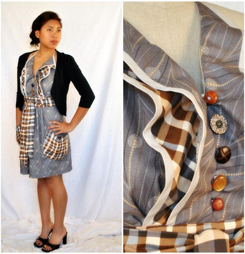 Miss Stella grey and plaid collage
