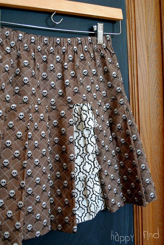 Pleats and ruffles skirt 3