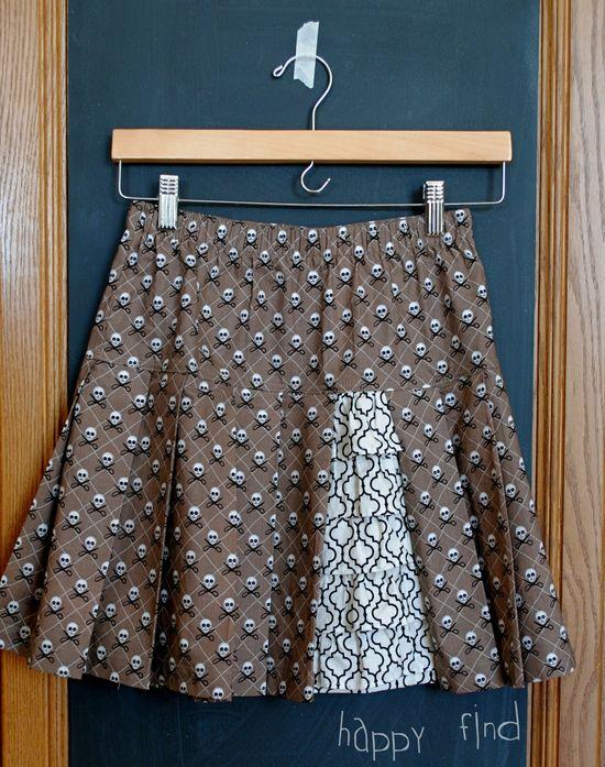 Pleats and ruffle skirt 1